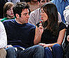 Photo of Josh Radnor and Lindsay Price Looking Cute at a Basketball Game
