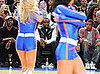 Photo of Chris Rock, Jay-Z and Diddy Watching Cheerleaders at the Knicks Game