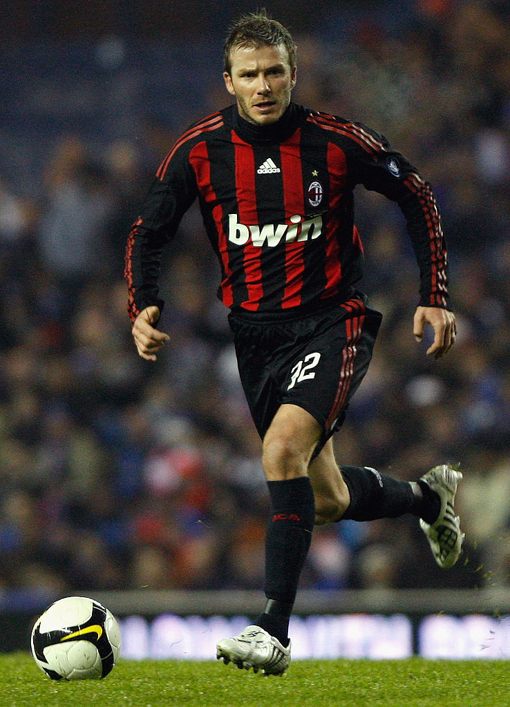 David Beckham Plays with AC Milan