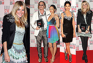 Photos of Sienna Miller, Freida Pinto, Mickey Rourke, Courtney Love, Thandie Newton at the Elle UK Style Awards