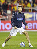 David Beckham Playing Soccer in Spain