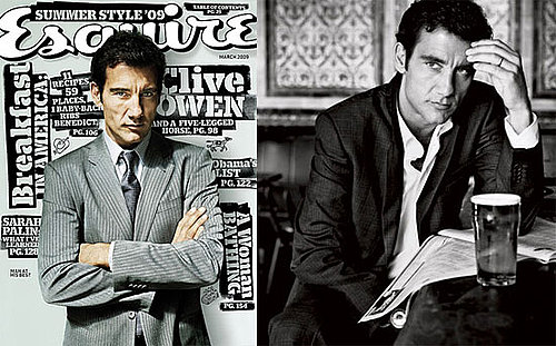 Photos and Quotes From Clive Owen's Esquire Magazine March 2009 Issue, Julia Roberts Says George Clooney's Obsessed With Clive
