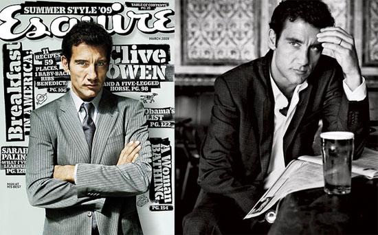 Clive Owen in March 2009 Esquire