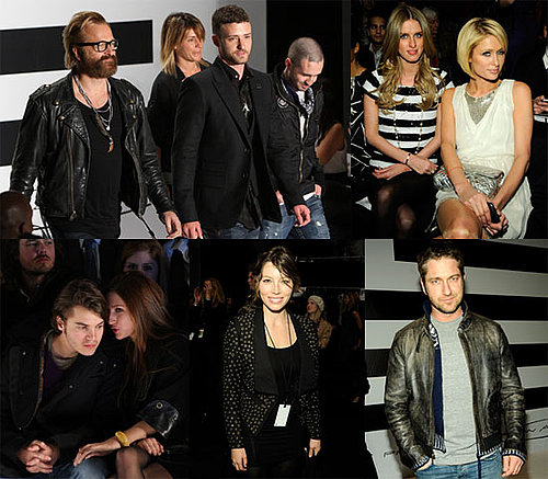 Photos of Justin Timberlake, Jessica Biel, Anna Wintour during the William Rast Show at 2009 Fall New York Fashion Week