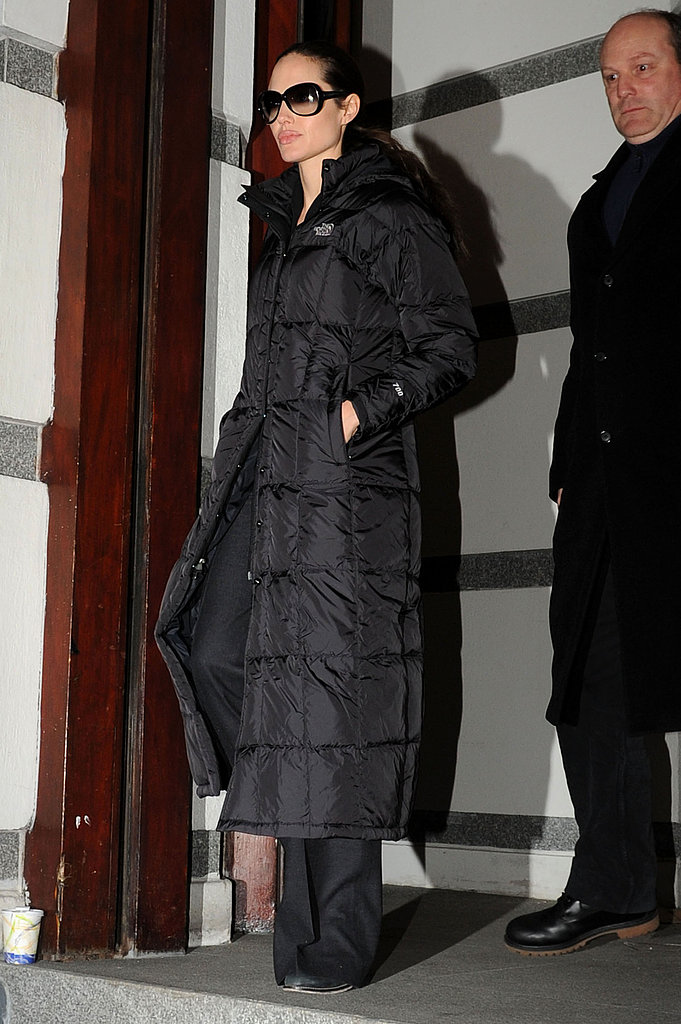 Angelina Bundled Up