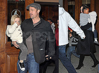 Photos of Brad Pitt and Angelina Jolie with Shiloh, Maddox, Pax, Zahara Jolie-Pitt Viewing The Little Mermaid on Broadway
