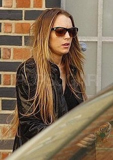 Photos of Lindsay Lohan and Samantha Ronson in London, Lindsay's Tanning Line Called Stay Gold