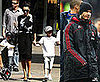 Photos of Victoria Beckham, Romeo Beckham, Cruz Beckham, Brooklyn Beckham at Universal Studios in California