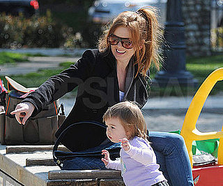 Photo of Isla Fisher with Her Daughter Olive Cohen at a Park in LA