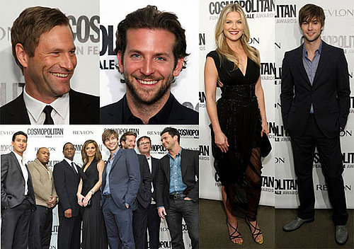 Photos of Aaron Eckhart, Ali Larter, Chace Crawford, Bradley Cooper, Rainn Wilson, and Adam Levine at Cosmo Awards