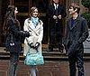 Michelle Trachtenberg with Chace Crawford and Leighton Meester on the NYC Set of Gossip Girl