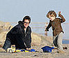 Photo of Jim Carrey With Jenny McCarthy's Son Evan on the Beach in Malibu