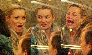 Photos of Kate Moss and Her Many Expressions During Dinner at Paris's Cafe de Flore