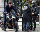 Orlando Bloom Rides His Motorcycle in London