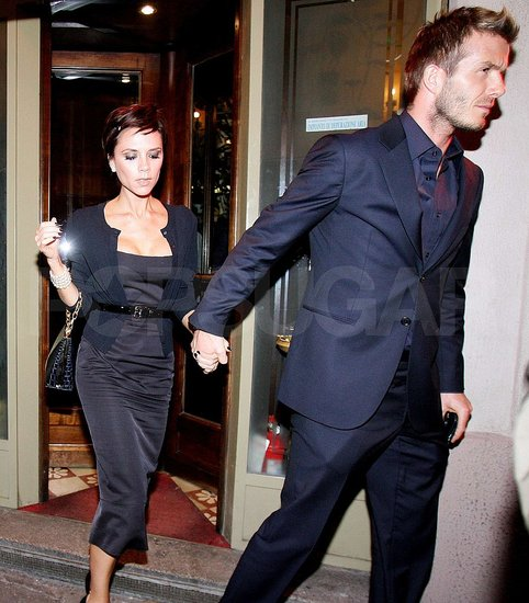 David and Victoria in Milan