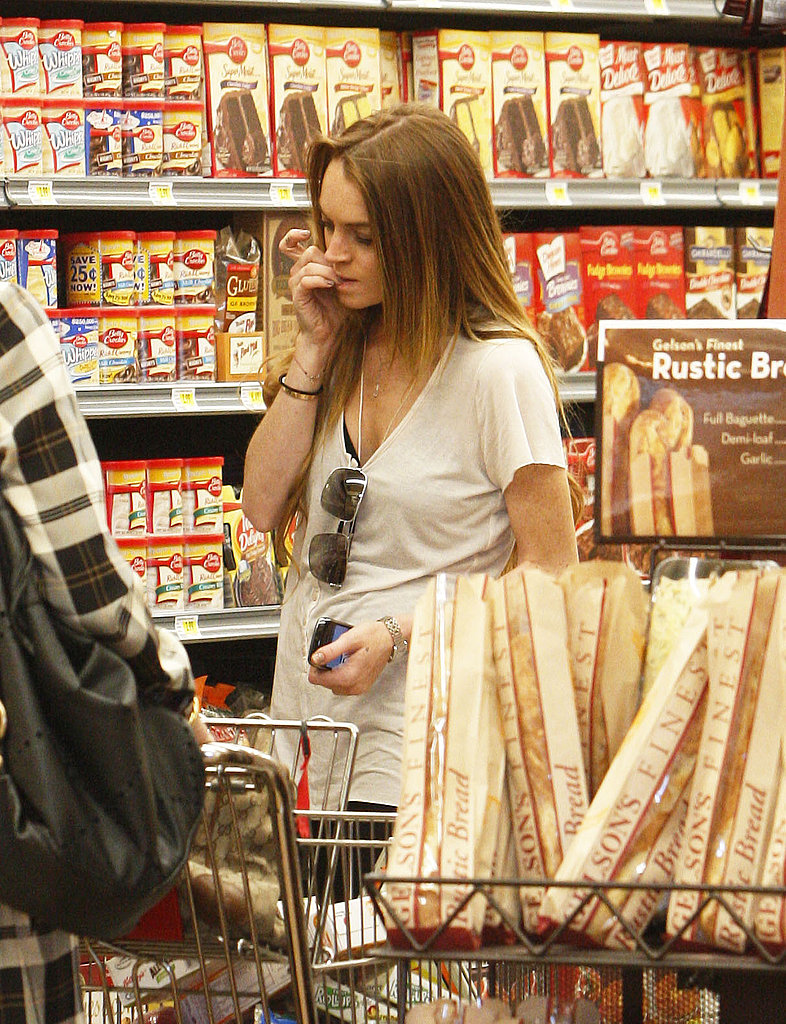 Lindsay Picking Up Food
