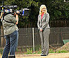 Photo of Amy Poehler Filming Parks and Recreation