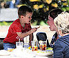 Photo of Cruz Beckham at Lunch with His Grandma