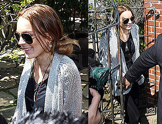 Photos of Lindsay Lohan Emerging After Her Drama Filled Weekend; Arrest Warrant Rescinded