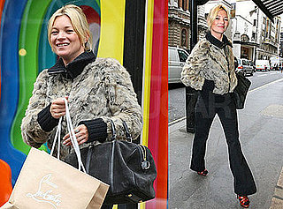 Photos of Kate Moss and a Friend Shopping in London