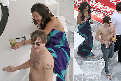 Photos of Shirtless Ed Westwick and Girlfriend / Gossip Girl Costar Jessica Szohr on Vacation in Miami