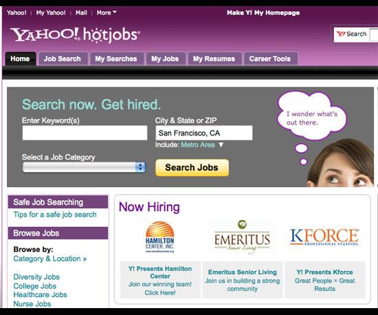 Yahoo Hot Jobs