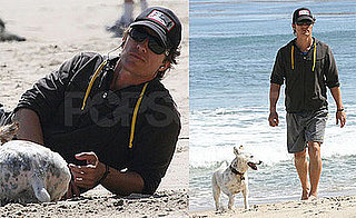 Matthew McConaughey on the Beach