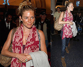 Photos of Sienna Miller Arriving at LAX Before Being Honored at ShoWest