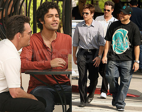 Photos of Kevin Connolly, Adrian Grenier, Kevin Dillon, and Jerry Ferrara Filming Entourage in LA