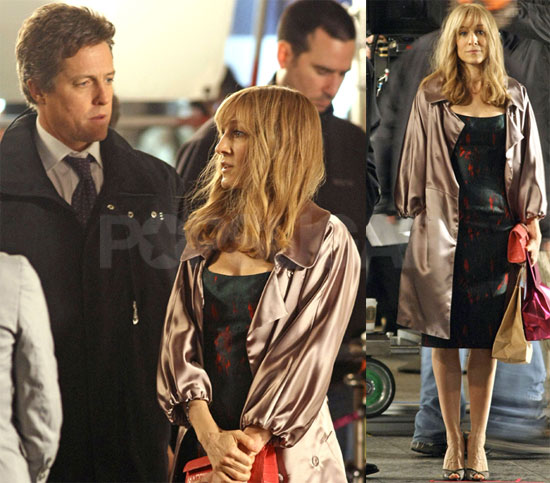 Sarah Jessica and Hugh Grant on Set