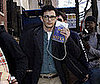 Photo of James Franco Reading Kafka on the NYC Set of Howl