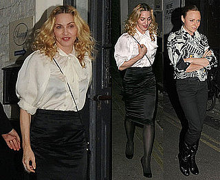 Photos of Madonna Out to Dinner With Stella McCartney in London; Donates Money to Italian Quake Victims