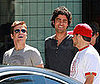 Photo of Adrian Grenier, Kevin Connolly and Jerry Ferrara Filming Entourage in LA