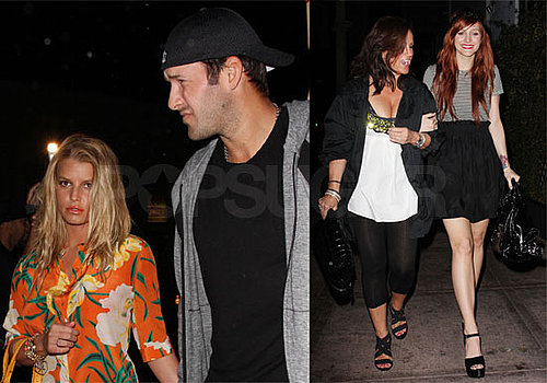 Photos of Jessica Simpson, Ashlee Simpson, Joe Simpson, Tony Romo at Beso