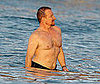 Photo of Shirtless Bono on the Beach in St. Bart's