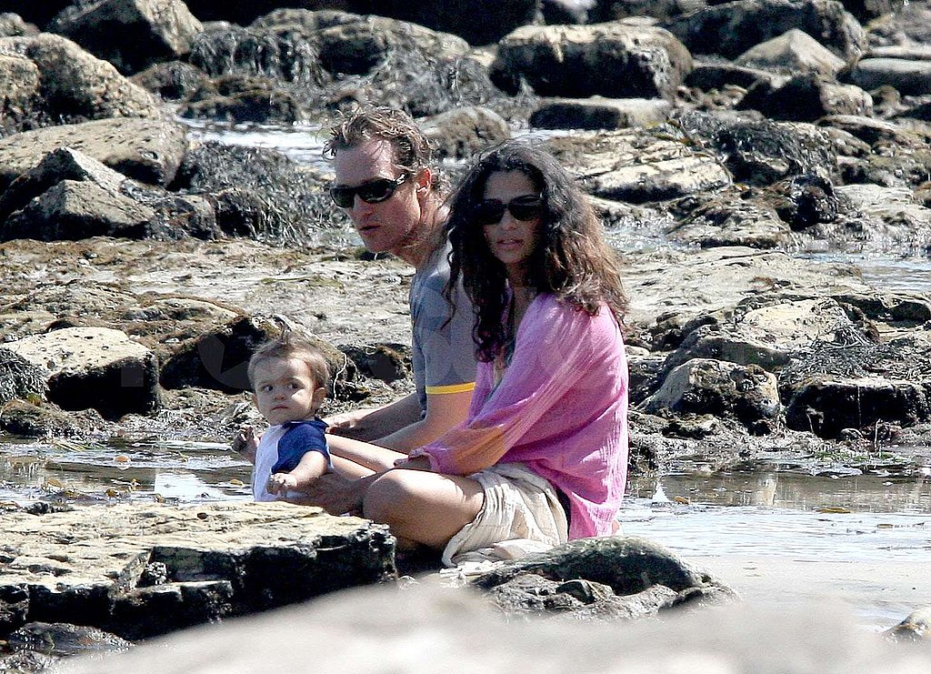 Matthew and Camila Take Levi to the Beach