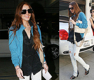 Photos of Lindsay Lohan and Ali Lohan at a Studio in Burbank
