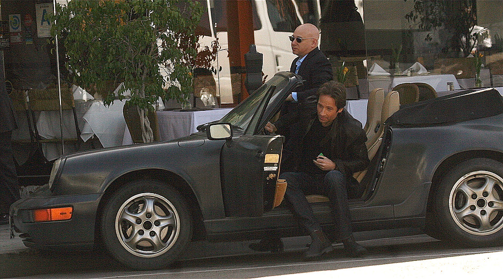 David Duchovny On the Set
