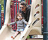 Photo of Amanda Peet with Daughter Frances at a Park in LA