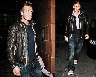 Photos of David Beckham Leaving London's Cipriani
