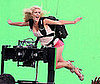 Photo of Heidi Montag Filming a Promo for I'm A Celebrity, Get Me Out Of Here In Front of a Green Screen