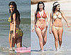 Photos of Kim Kardashian and Her Sisters in Bikinis in Mexico