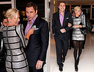 Photo of Kate Moss and David Walliams at the Unveiling of 'White Light' Designed By Shaun Leane