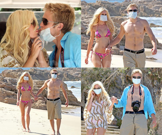 Photos of Just Married Heidi Montag and Spencer Pratt Wearing Swine Flu Masks in Cabo