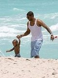 Usher Hits the Beach