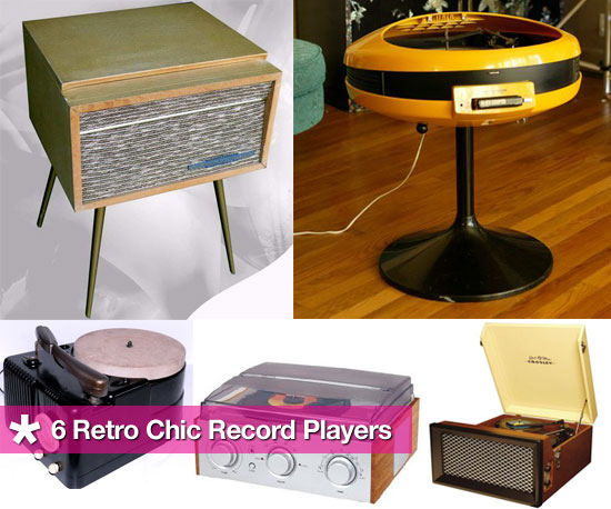 Making a Comeback: Six Retro Chic Record Players
