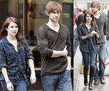 Emma, Chace and Zoe on Set of Twelve