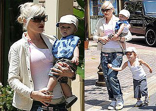 Photos of Gwen Stefani at The Grove with Kingston Rossdale and Zuma Rossdale