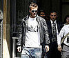 Photo of David Beckham Out in Milan Leaving a Bookstore