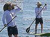 Photos of Owen Wilson Paddle Surfing in Hawaii